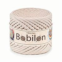Трикотажная пряжа Bobilon Medium (7-9 мм) Ivory Айвори