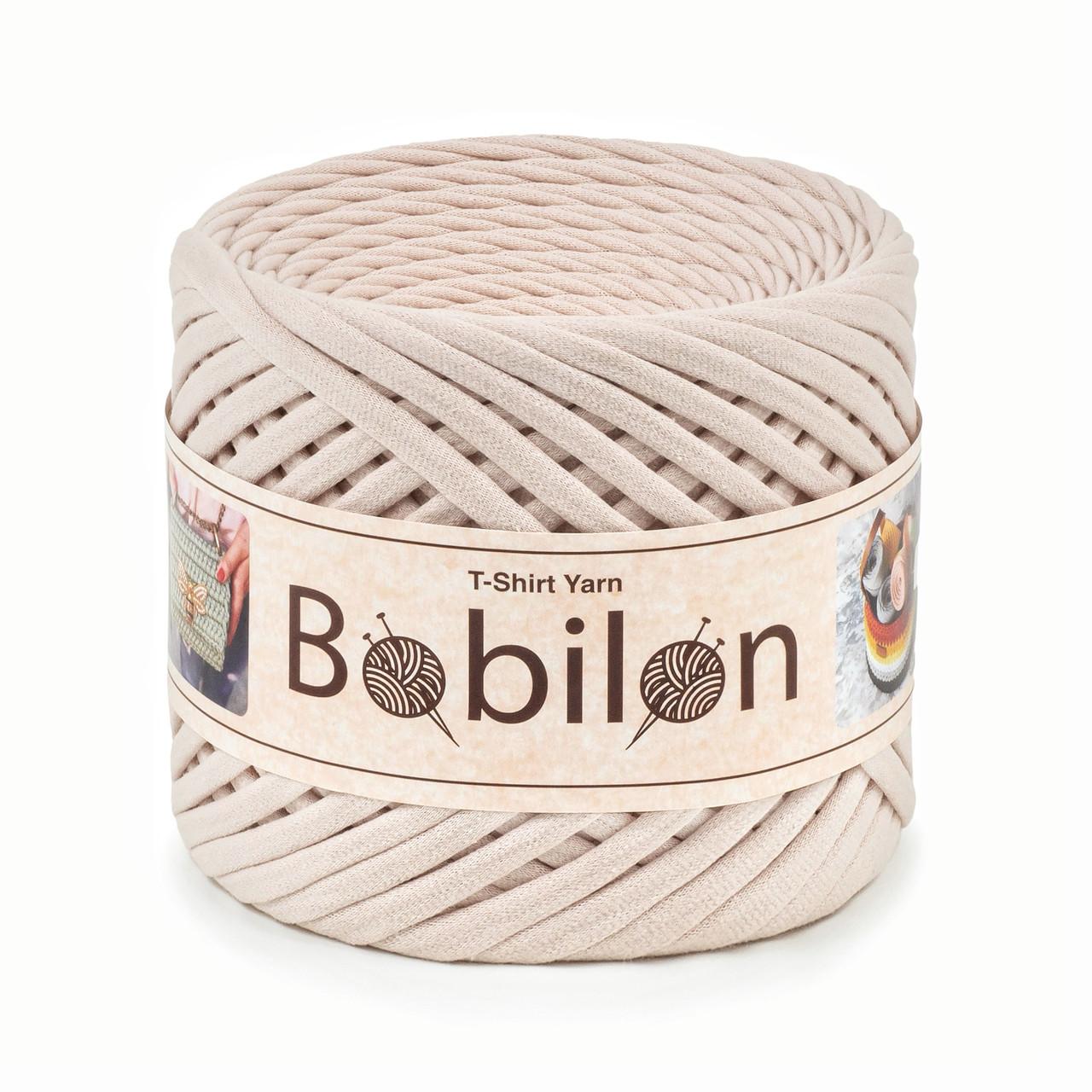 Трикотажная пряжа Bobilon Maxi (9-11 мм) Ivory Айвори