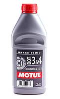 Тормозная жидкость MOTUL DOT 3 & 4 BRAKE FLUID (1л) SAE J 1703, ISO 4925