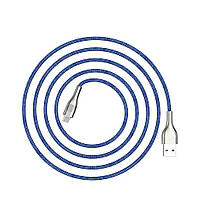 Кабель Hoco U59 Enlightenment USB Type-C 1.2 м Blue MB639h, КОД: 1346119