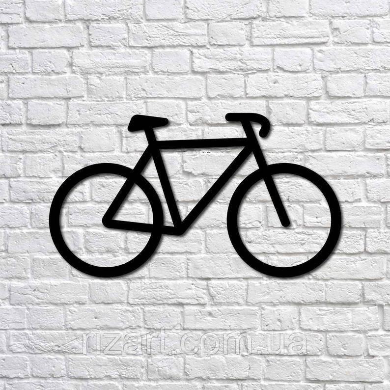 Декоративна картина із металу Велосипед, пано на стіну