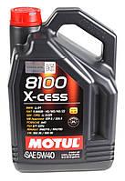 Моторное масло Motul 8100 X-Cess 5w40 (5л) ACEA A3/B4; API SN, фото 1