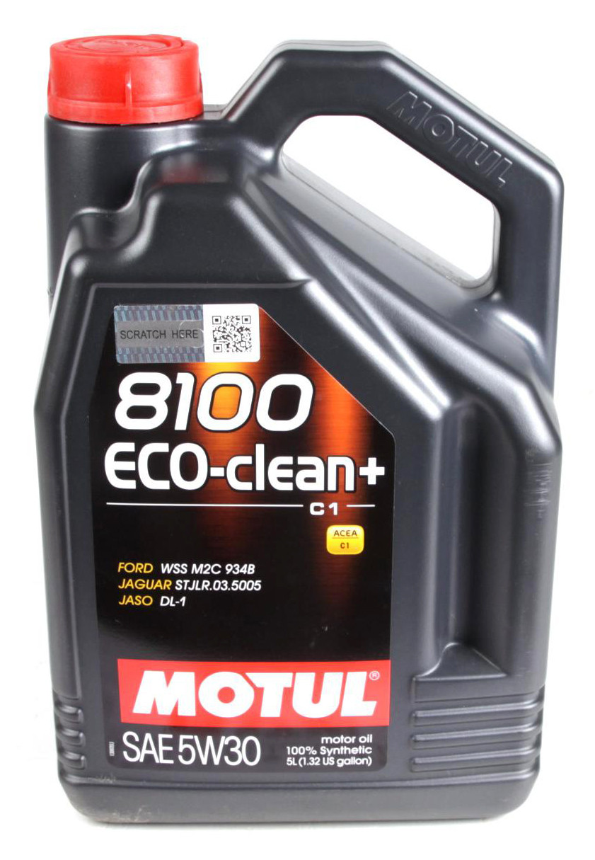 Моторное масло Motul 8100 ECO-CLEAN+ 5W30 (5л) ACEA A5/B5, C1; JASO DL-1