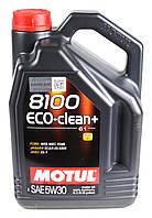 Моторное масло Motul 8100 ECO-CLEAN+ 5W30 (5л) ACEA A5/B5, C1; JASO DL-1, фото 1