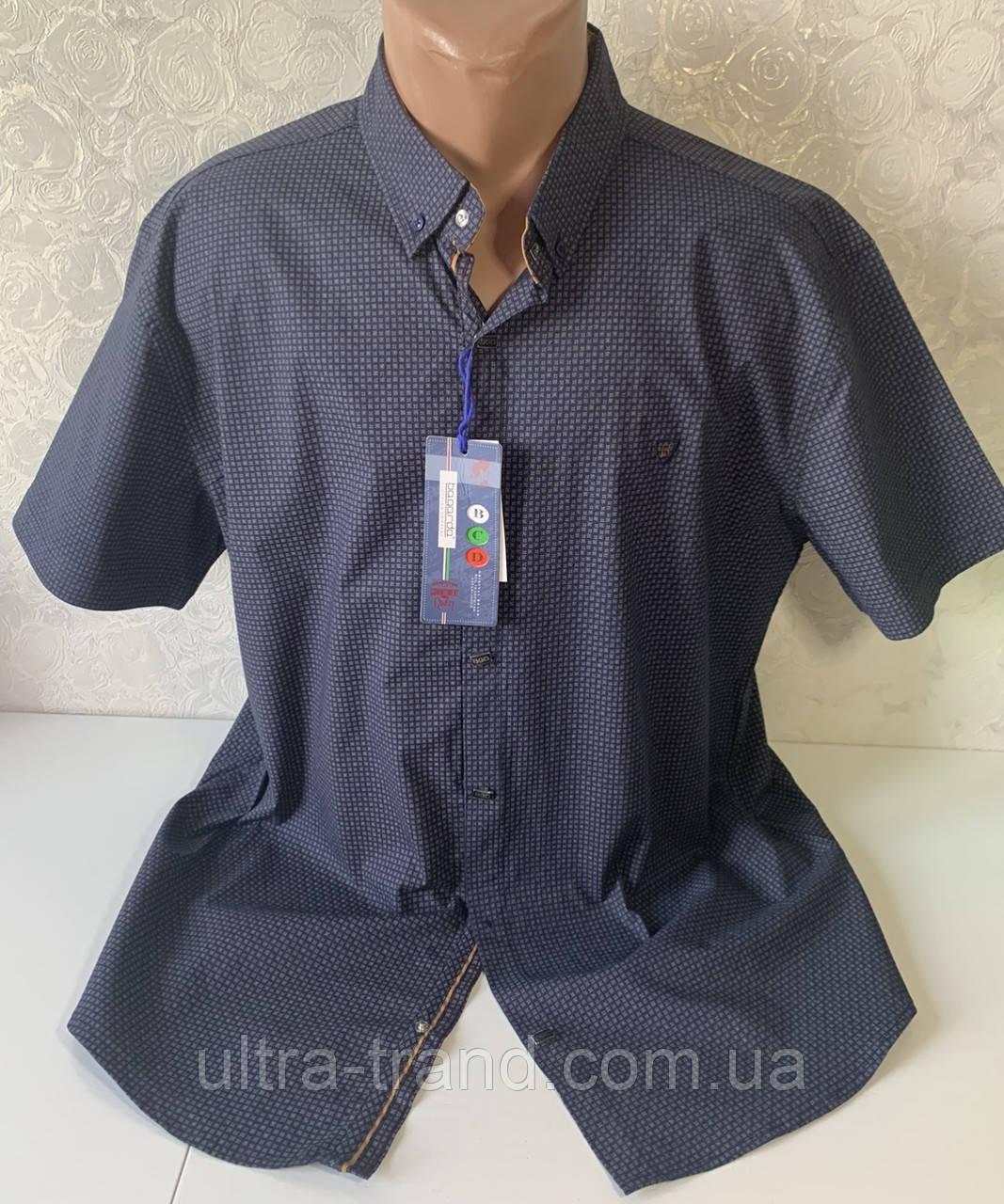 Мужские турецкие рубашки шведки больших размеров с двумя карманами  супербаталы