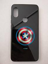 Чохол для Xiaomi Redmi Note 6 LUMINOUS GLASS Captain America
