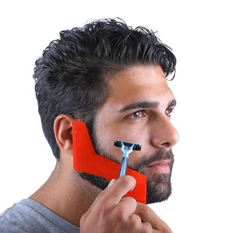 Форма гребень для бороды, шейпинг, шаблон для бритья