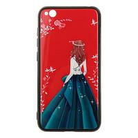 Накладка для Xiaomi Redmi Go TOTO Glass Fashionable Case Green Dress Girl