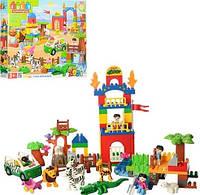 """Конструктор """"Зоопарк"""", машинка, фигурки, животные, 116 деталей, JDLT 5028"""
