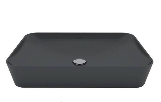 ULTRA Умывальник на столешницу 40х60 см., антрацит матовый UL060.60000, фото 2
