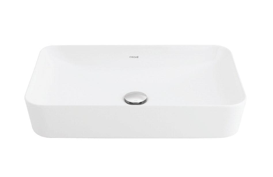 ULTRA Умывальник на столешницу 40х60 см, матовый белый с жемчужным оттенком UL060.G0000