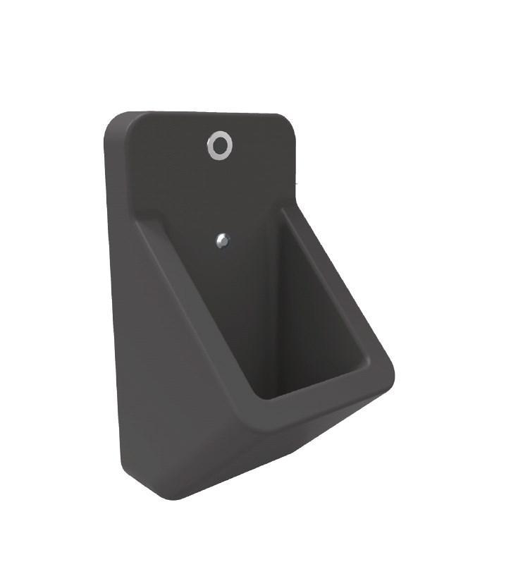 TP Уринал с сенсорным автоматическим сливом антрацит матовый, 35,7x64 см.
