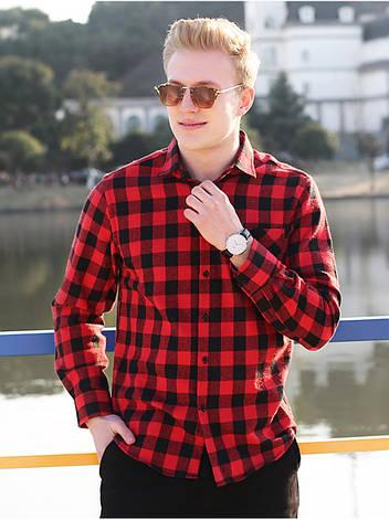 Мужская рубашка в клетку теплая, фото 2
