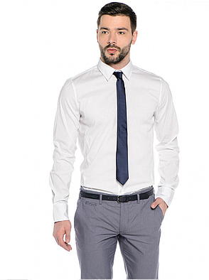 Белая рубашка мужская классика, фото 2