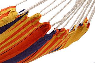 Гамак тканевый Оранжевый XL 200х100, фото 3