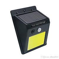 Уличный фонарь светодиодный 30led автономный с датчиком движения  + Solar солнечная панель