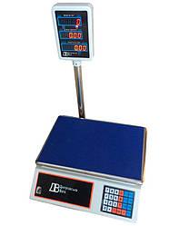 Весы торговые электронные со стойкой ВТЕ-Центровес 15Т2ДВ-Э
