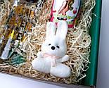 """Подарочный набор  """"Настоящей блондинке"""": бутылка для воды, консервированные носочки, игрушка зайчик-талисман, фото 4"""