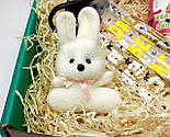 """Подарочный набор  """"Настоящей блондинке"""": бутылка для воды, консервированные носочки, игрушка зайчик-талисман, фото 8"""