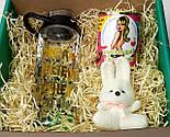 """Подарочный набор  """"Настоящей блондинке"""": бутылка для воды, консервированные носочки, игрушка зайчик-талисман, фото 10"""