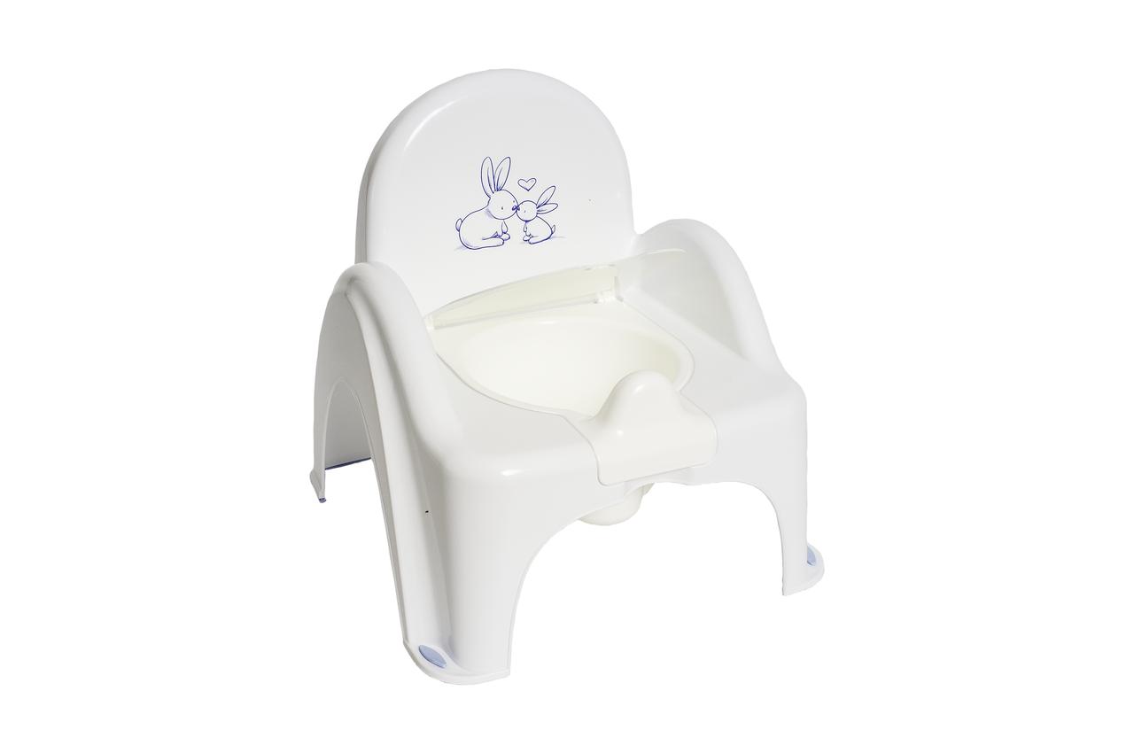Горшок-стульчик музыкальный Кролики Tega Baby Белый