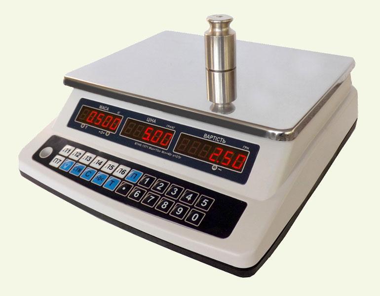 Весы торговые электронные без стойки ВТНЕ-15Т1-3