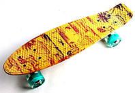 """Пенни борд, Penny Board """"Fish"""" Palm 2. Светящиеся колеса."""