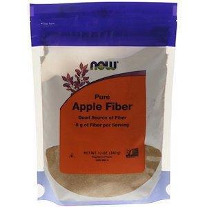 Чистая яблочная клетчатка Now Foods 340 г