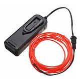Гибкий светодиодный неон Красный Neon Glow Light  Red - 3 метра ленты на батарейках 2 AA, фото 2
