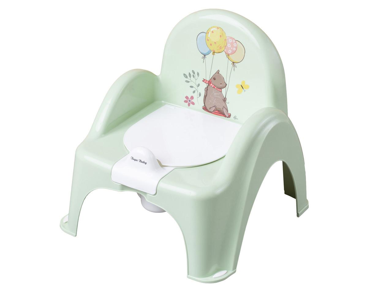 Горшок-стульчик музыкальный Tega Baby Лесная Сказка светло-зеленый