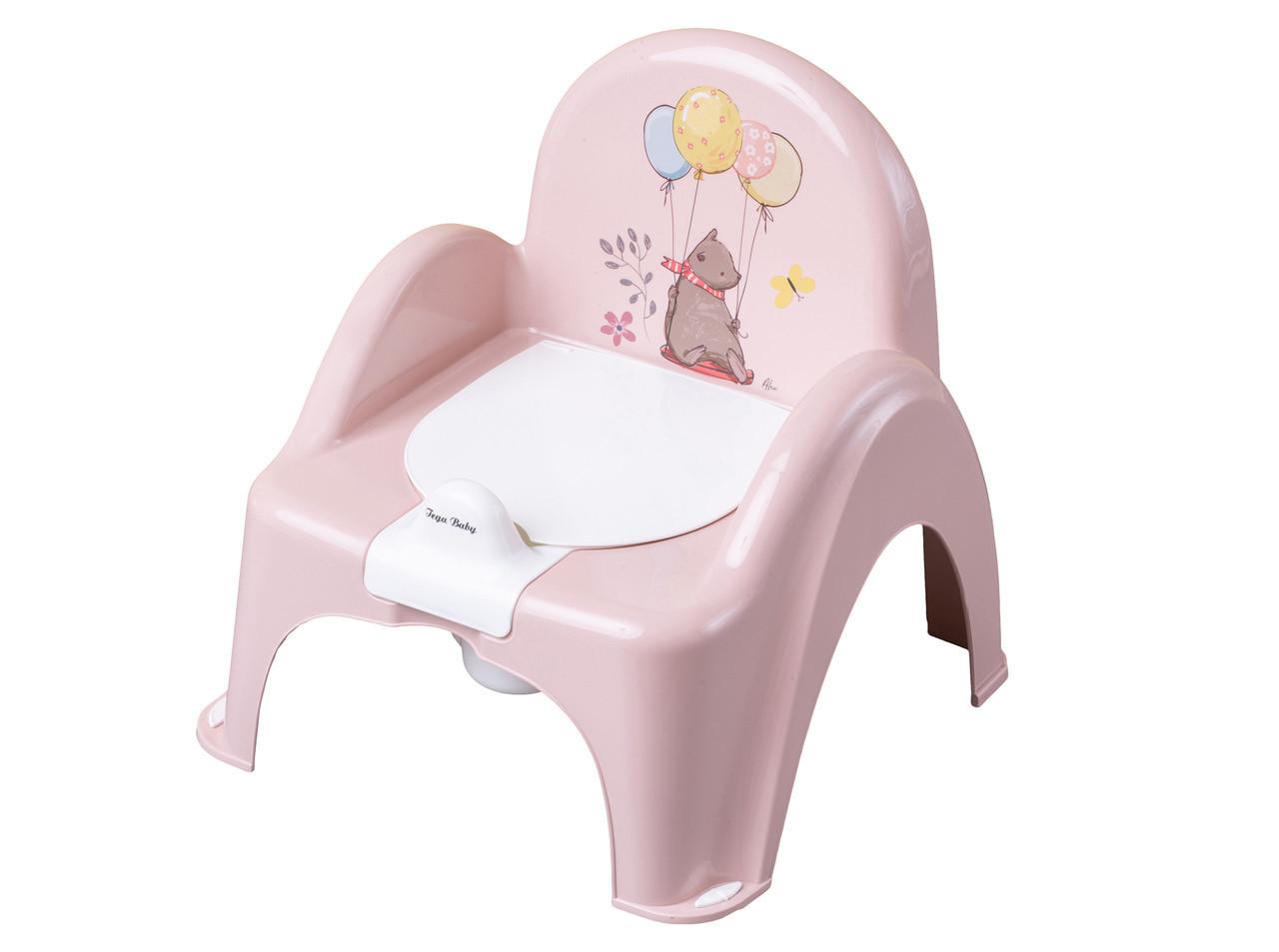 Горшок-стульчик музыкальный Tega Baby Лесная Сказка Розовый