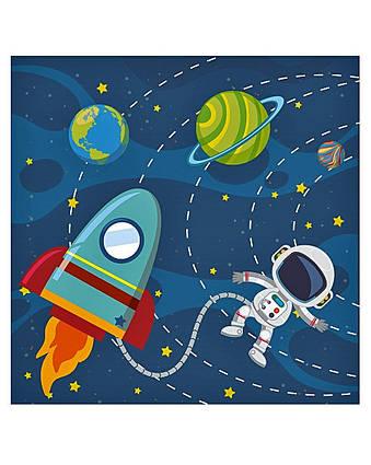 Салфетки двухслойные праздничные детские на день рождения Космос 16 штук