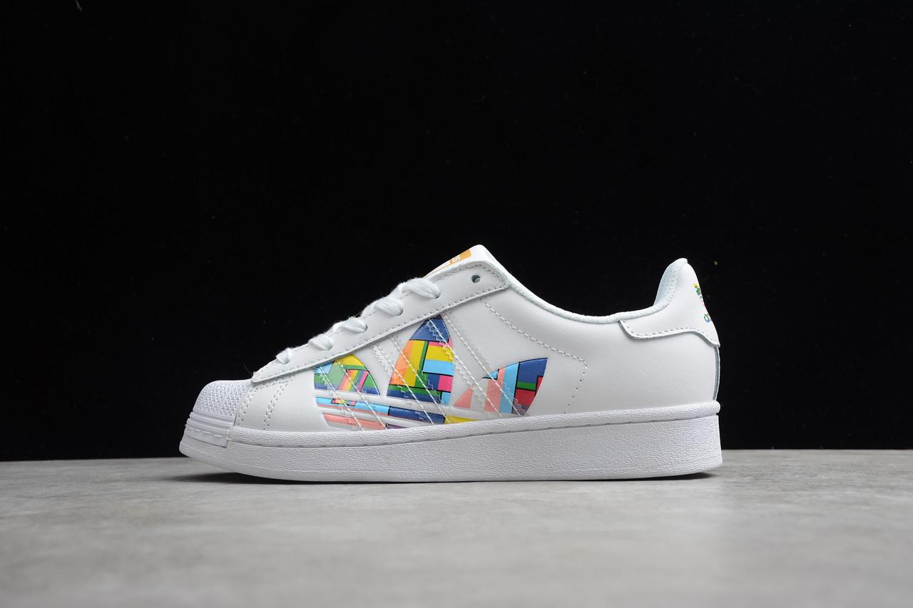 Кросівки чоловічі Adidas Superstar / ADM-3349 (Репліка)