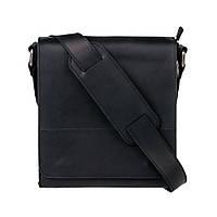 Мужская кожаная сумка через плечо KAFA 0021 черный