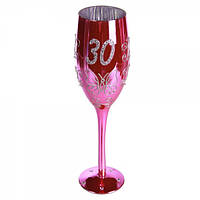"""Келих для шампанського """"Happy Birhday"""" 30"""