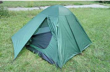 Палатка, трех, 3, местная, двухслойная, с двумя входами, с максимальной системой вентиляции