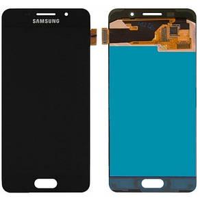 Модуль (сенсор + дисплей) для Samsung A310F / A310M / A310N / A310Y Galaxy A3 (2016) AMOLED черный, фото 2