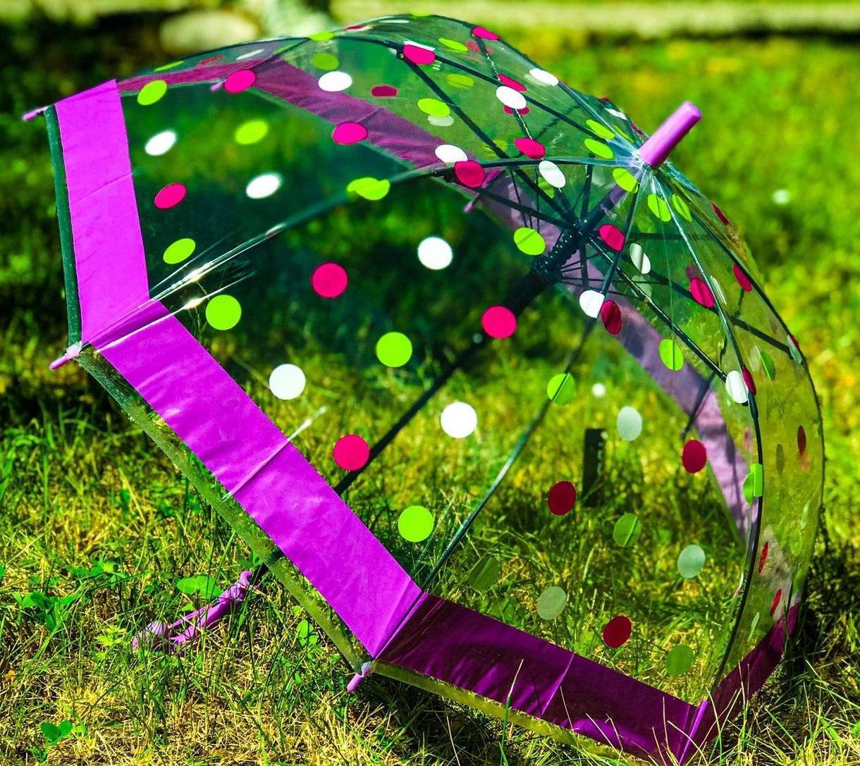 Зонт трость детский Flagman с рисунком «Горошек» на 4-7 лет (1221306328)