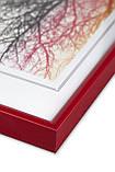 Рамка 30х42 а3 из алюминия - Красная 6 мм - со стеклом, для фото, фото 3