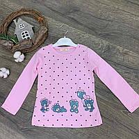 """Батник детский #520521 """"Мишки"""". Размеры 1-4 года. Розовый. Оптом."""