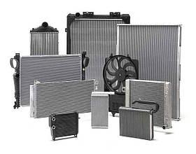 Радиатор охлаждения Mercedes 207-409 1986-1989 механика 475*518*35мм по сотах KEMP