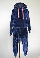 Спортивный детский костюм для девочки от 4 до 8 лет, синий, фото 1