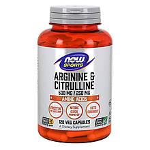 Аминокислоты ARGININE and CITRULLINE 500/250 mg 120 капсул