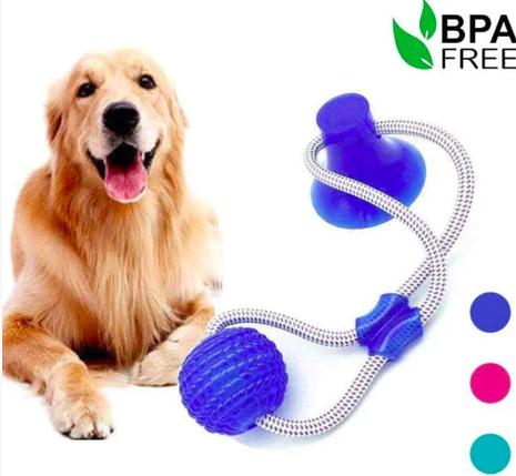 Интерактивная игрушка для собак Fun Pet Канат на присоске с мячом, фото 2