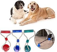 Интерактивная игрушка для собак Fun Pet Канат на присоске с мячом, фото 3