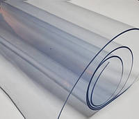 Мягкое стекло Силиконовая защитная скатерть для стола и мебели Soft Glass (2.0х1.0м) Толщина 1.5мм Прозрачная