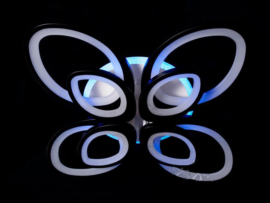 Потолочная LED-люстра с диммером и подсветкой цвет коричневый 170W Diasha&8059/4+4CF LED 3color dimmer