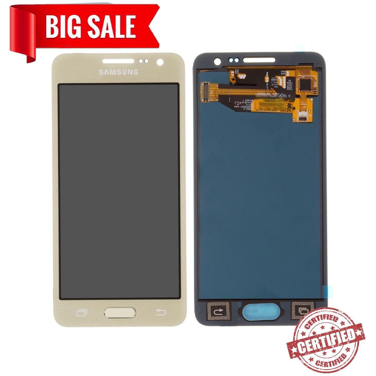 Модуль(сенсор+дисплей) для Samsung A300F Galaxy A3,A300FU,A300H  TFT З РЕГУЛЮВАННЯМ ЯСКРАВОСТІ золотий