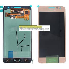 Модуль(сенсор+дисплей) для Samsung A300F Galaxy A3,A300FU,A300H  TFT З РЕГУЛЮВАННЯМ ЯСКРАВОСТІ золотий, фото 2