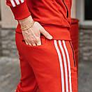 Спортивні чоловічі штани в стилі Adidas Originals червоні, фото 8